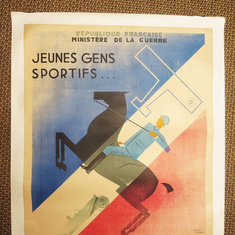 Jean Carlu (French 1900-1997) started creating graphic images professionally in France in 1919. He was influenced by the emerging