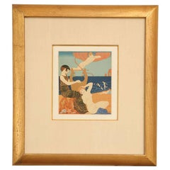 French Art Deco Rare Engraving by George Barbier from Chansons De Bilitis