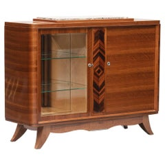 French Art Deco Rosewood and Macassar Ebony Sideboard