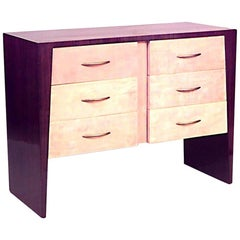 French Art Deco Rosewood and Sycamore Chest