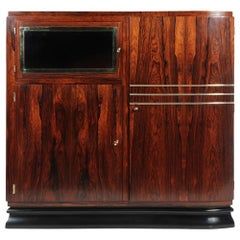 French Art Deco Rosewood Cabinet, c.1925