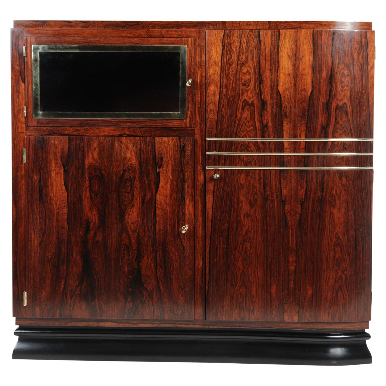 French Art Deco Rosewood Cabinet, c1925