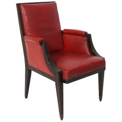 French Art Deco Rosewood Chair, circa 1930s