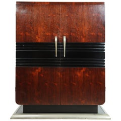 French Art Deco Rosewood Cocktail Cabinet, circa 1930