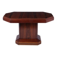 French Art Deco Rosewood Coffee Table, c.1920