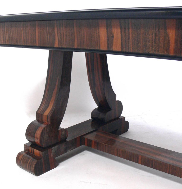 Mid-20th Century French Art Deco Rosewood Dining Table or Library Table