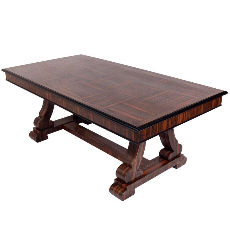 French Art Deco Rosewood Dining Table or Library Table