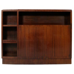 French Art Deco Rosewood Headboard or Bookcase
