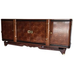 French Art Deco Rosewood Sideboard in the Jules Leleu Style