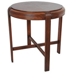 French Art Deco Round Side Table