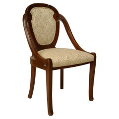 French Art Deco Scroll Back Side Chairs
