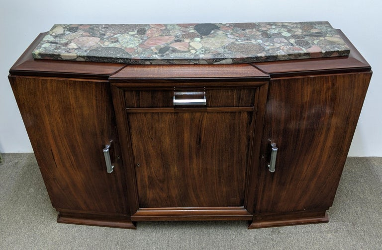 Hand-Crafted French Art Deco Sideboard, Buffet, Credenza For Sale