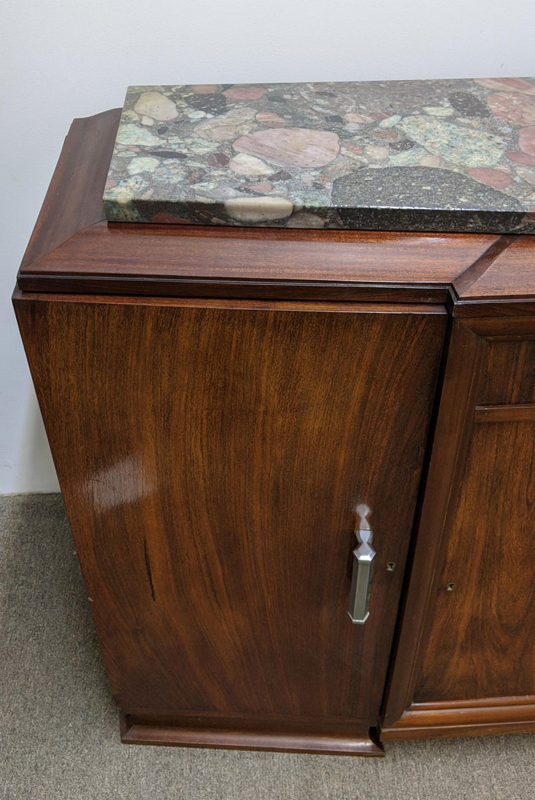 French Art Deco Sideboard, Buffet, Credenza In Good Condition For Sale In Bronx, NY