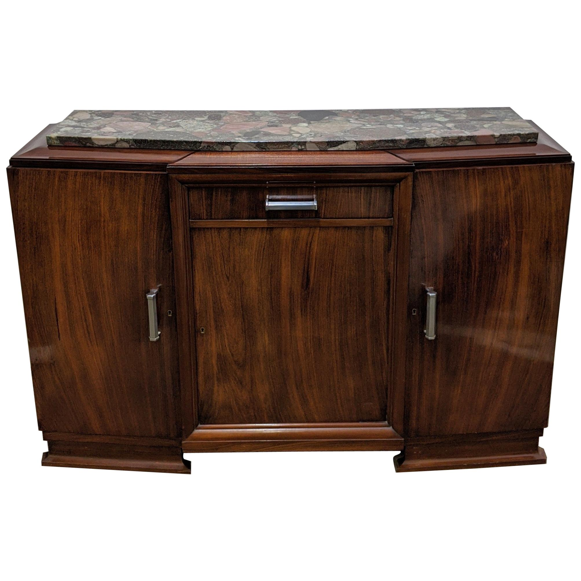 French Art Deco Sideboard, Buffet, Credenza