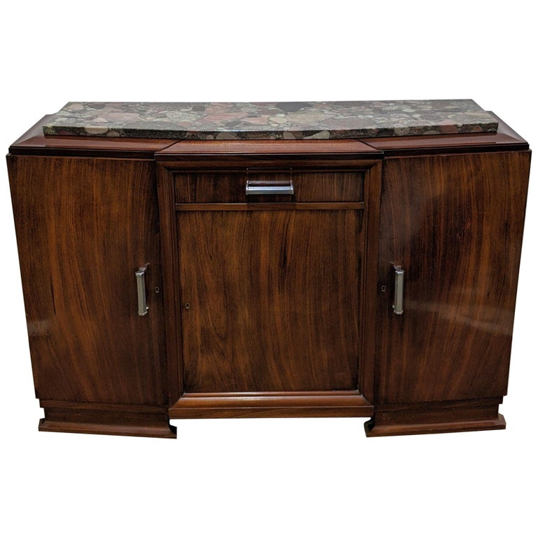 French Art Deco Sideboard, Buffet, Credenza For Sale