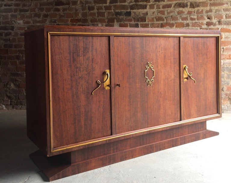 French Art Deco Sideboard Credenza Buffet Walnut Midcentury, 1950s For Sale 6