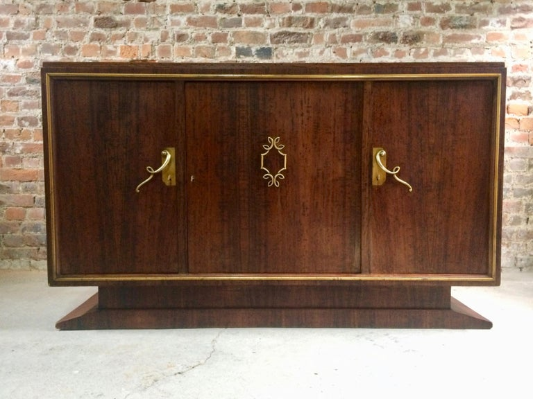 French Art Deco Sideboard Credenza Buffet Walnut Midcentury, 1950s In Good Condition For Sale In Longdon, Tewkesbury