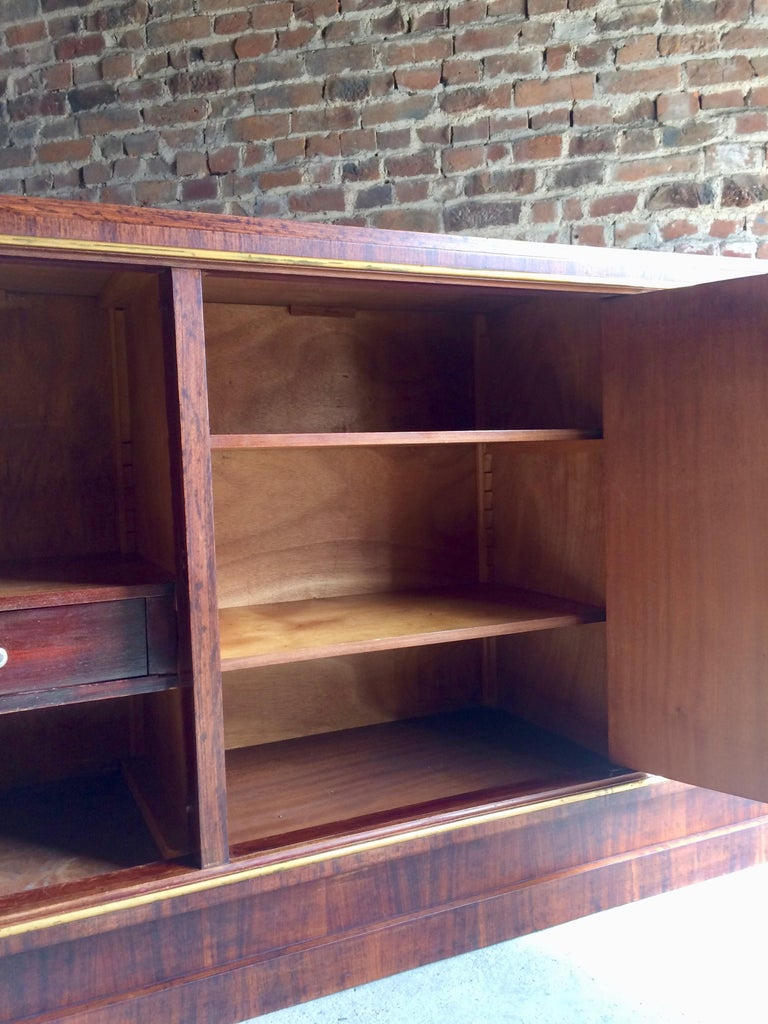 French Art Deco Sideboard Credenza Buffet Walnut Midcentury, 1950s For Sale 2