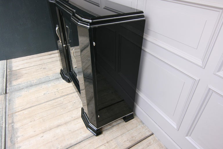 French Art Deco Sideboard in Black, 1920s For Sale 9