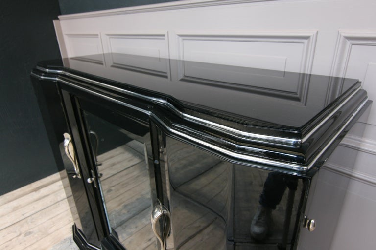 French Art Deco Sideboard in Black, 1920s For Sale 12