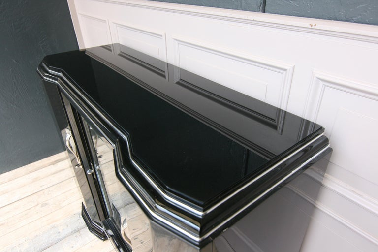 French Art Deco Sideboard in Black, 1920s For Sale 1