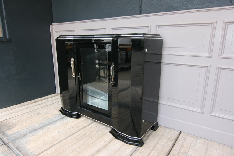 French Art Deco Sideboard in Black, 1920s For Sale 2