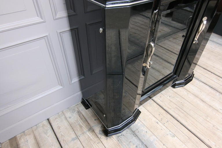 French Art Deco Sideboard in Black, 1920s For Sale 3