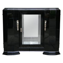 French Art Deco Sideboard in Black, 1920s