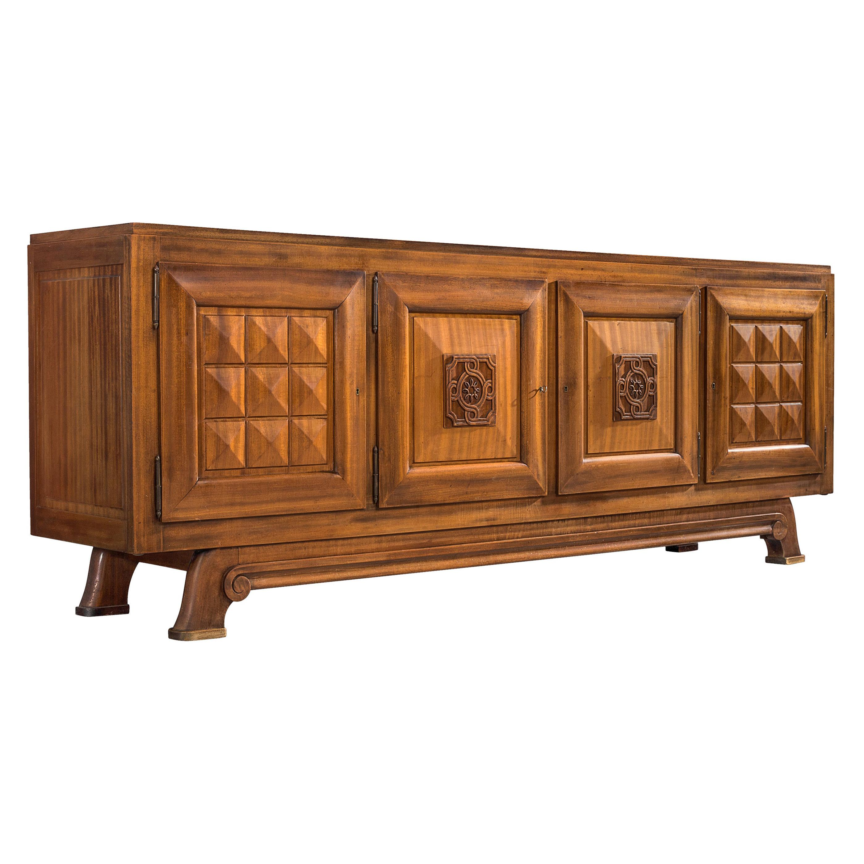 French Art Deco Sideboard in Mahogany