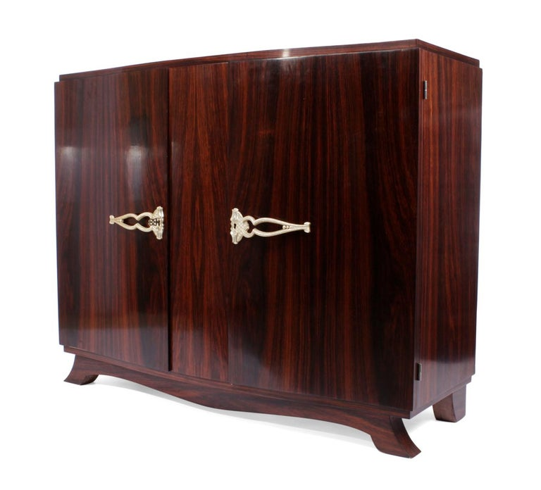 French Art Deco Sideboard in Rosewood, circa 1930 For Sale 1