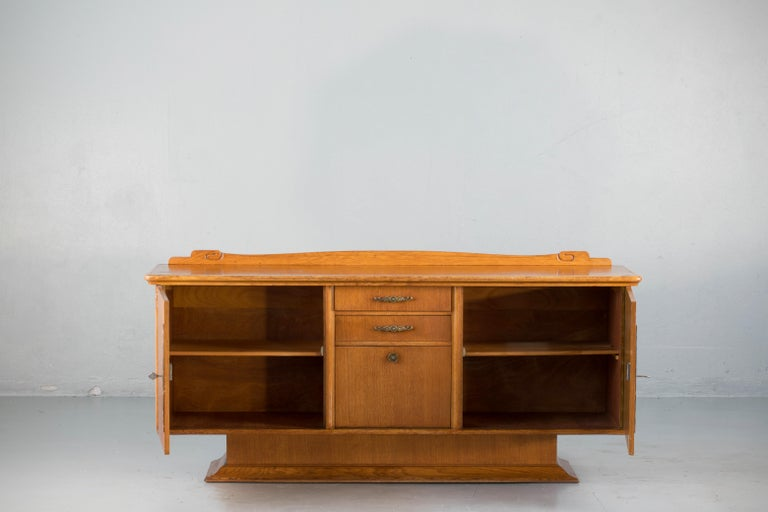 20th Century French Art Deco Sideboard with French Art Veneer, 1940s For Sale