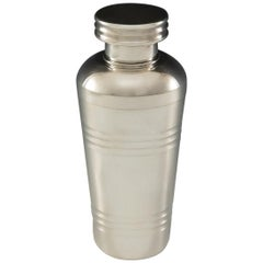 French Art Deco Silver Plate Cocktail Shaker, circa 1935