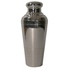 French Art Deco Silver Plated Cocktail Shaker, circa 1930
