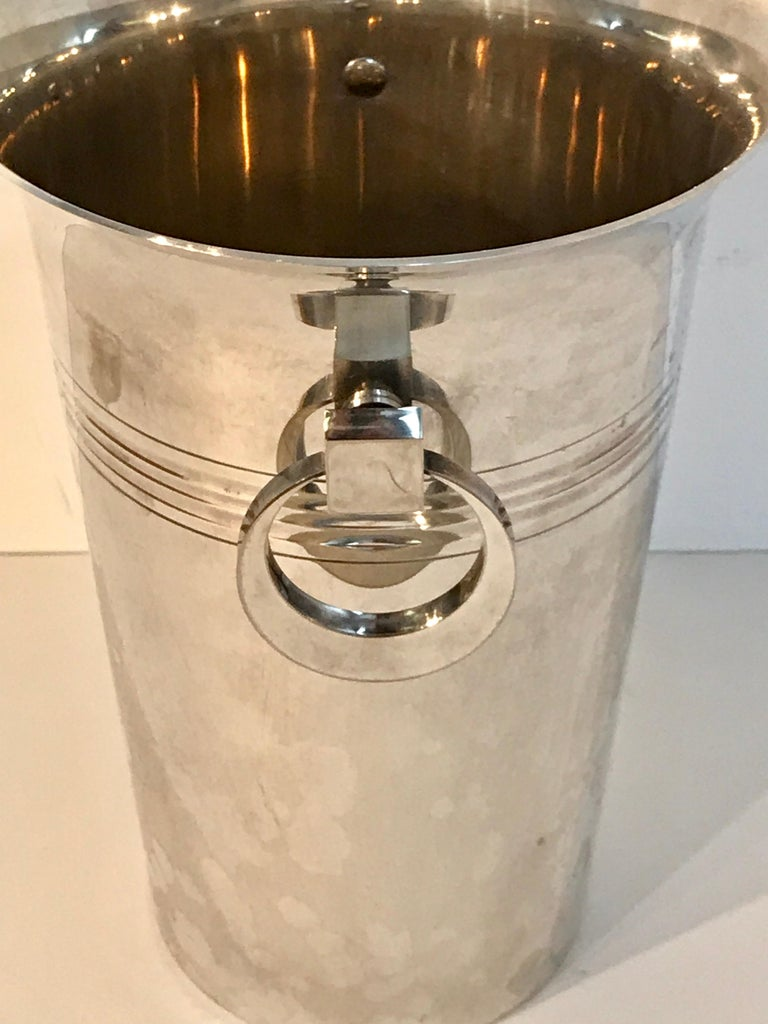 20th Century French Art Deco Silver Plated Champagne Bucket For Sale