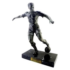 French Art Deco Soccer or Football Player Sculpture, 1930