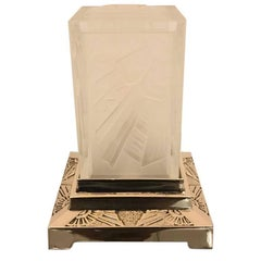 French Art Deco Square Geometric Table Lamp