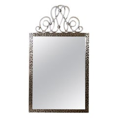 French Art Deco Steel Mirror after Raymond Subes