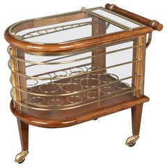 French Art Deco Style Bar Cart, or Cocktail Trolley