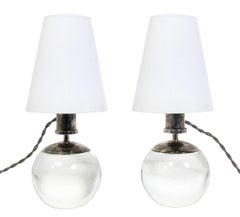 French Art Deco Style Lamps in the Manner of Jacques Adnet
