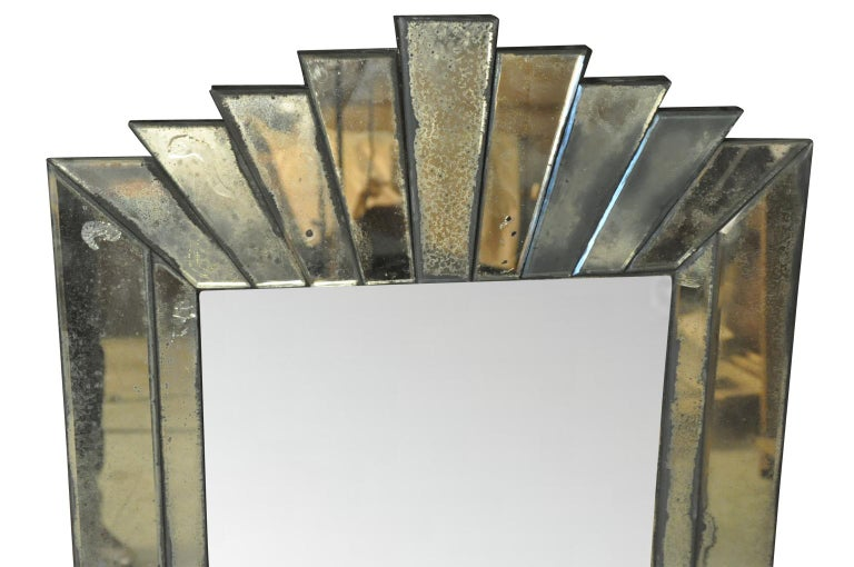 French Art Deco Style Mirror In Good Condition For Sale In Atlanta, GA