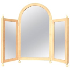 French Art Deco Style Triptych Dressing Table Mirror