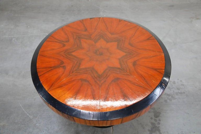 Mid-20th Century French Art Deco Table in Macassar and Ebony, circa 1930s For Sale