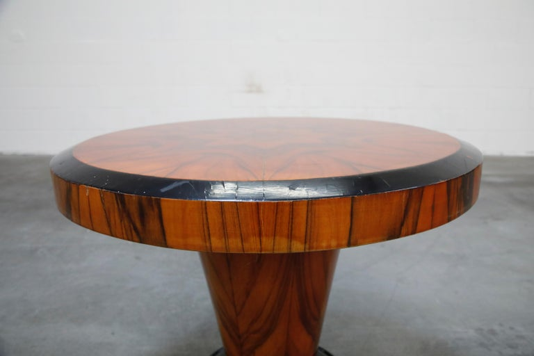 French Art Deco Table in Macassar and Ebony, circa 1930s For Sale 1