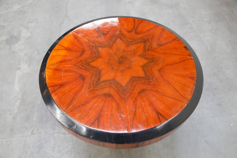 French Art Deco Table in Macassar and Ebony, circa 1930s For Sale 4