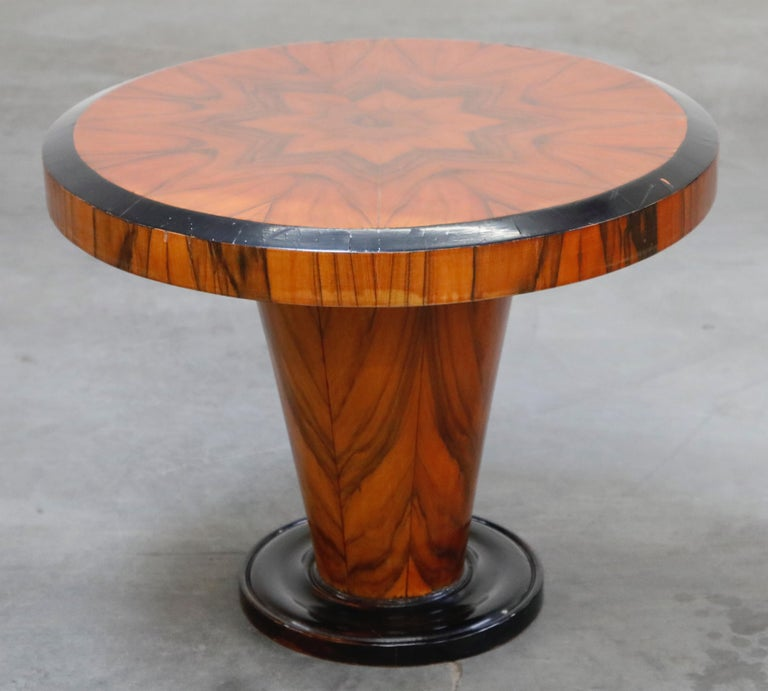 French Art Deco Table in Macassar and Ebony, circa 1930s For Sale 6