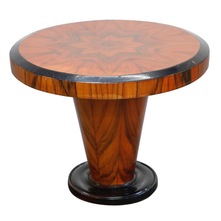 French Art Deco Table in Macassar and Ebony, circa 1930s For Sale