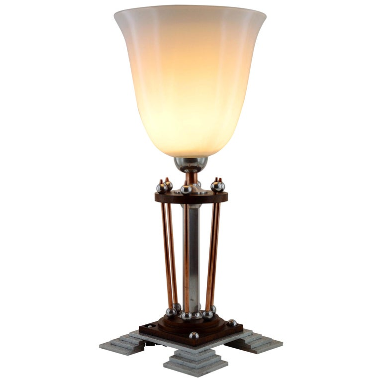 French Art Deco Table Lamp, 1920s For Sale