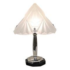 French Art Deco Table Lamp by Degué