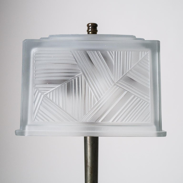Mid-20th Century French Art Deco Table Lamp by Sabino, circa 1930 For Sale