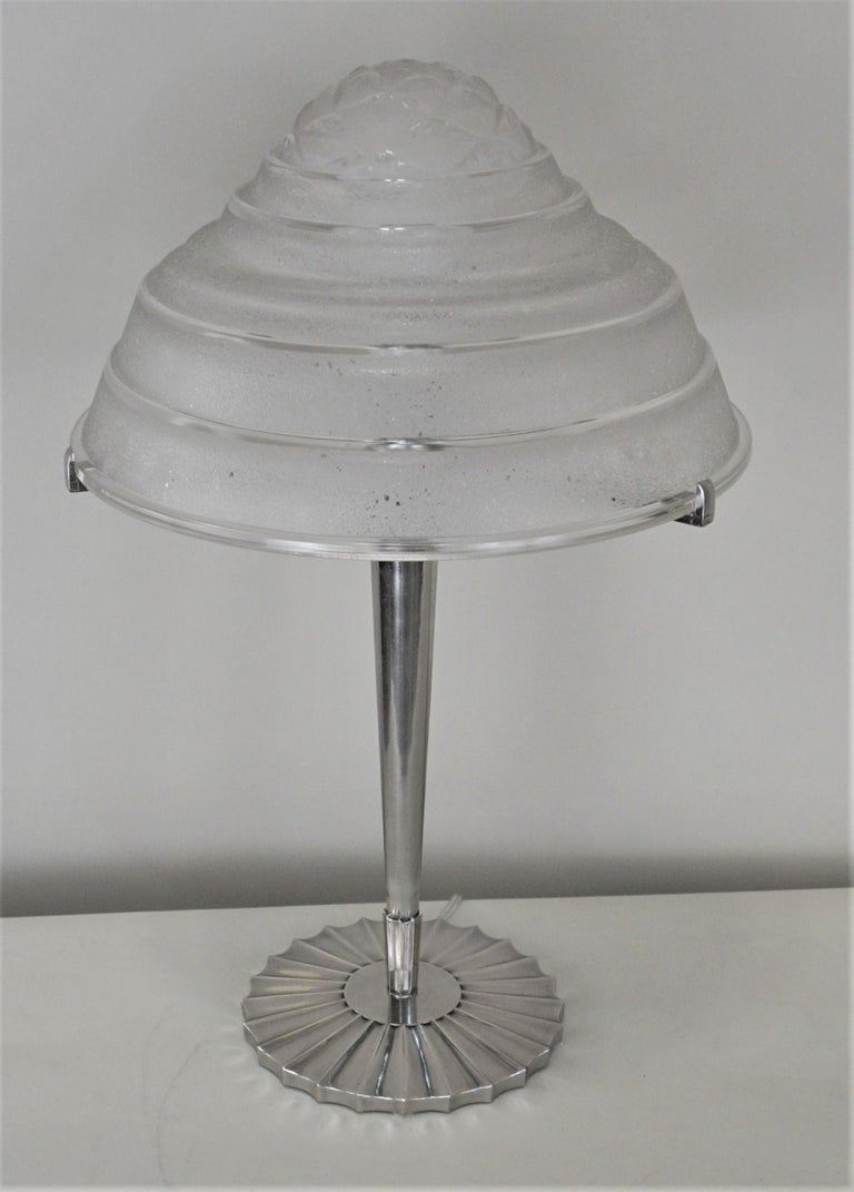 French Art Deco Table Lamp For Sale 3